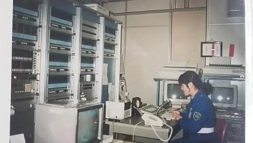 1997年 入社式 警備室